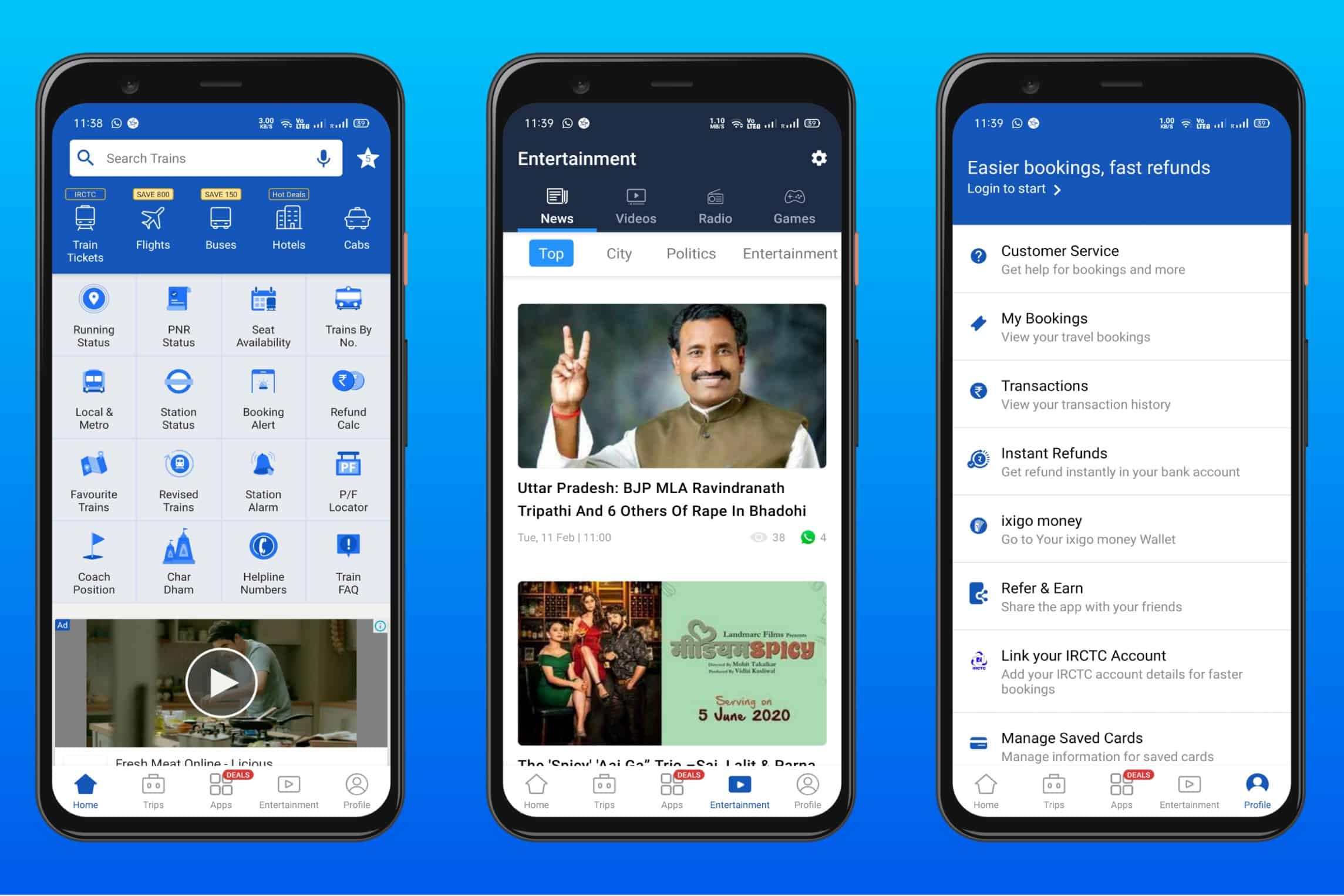 Ixigo Trains - Best Indian Railway App for booking ticket