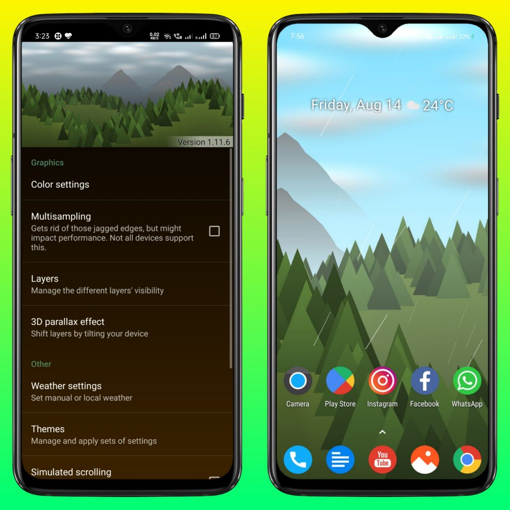 Forest Live Wallpaper - Android