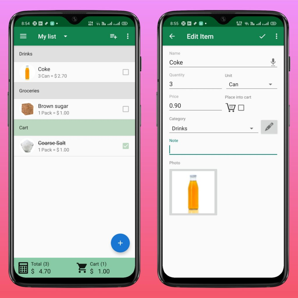 SoftList - Best Grocery List App for Android