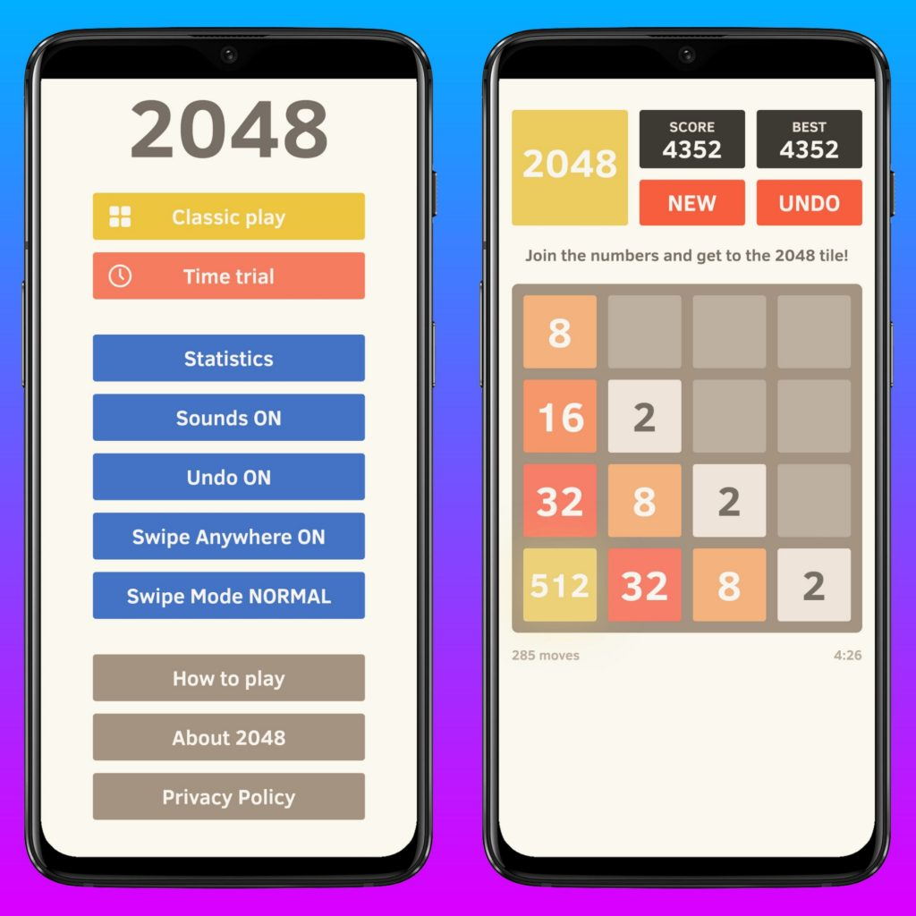2048 - Best Puzzle Game for Android & iPhone