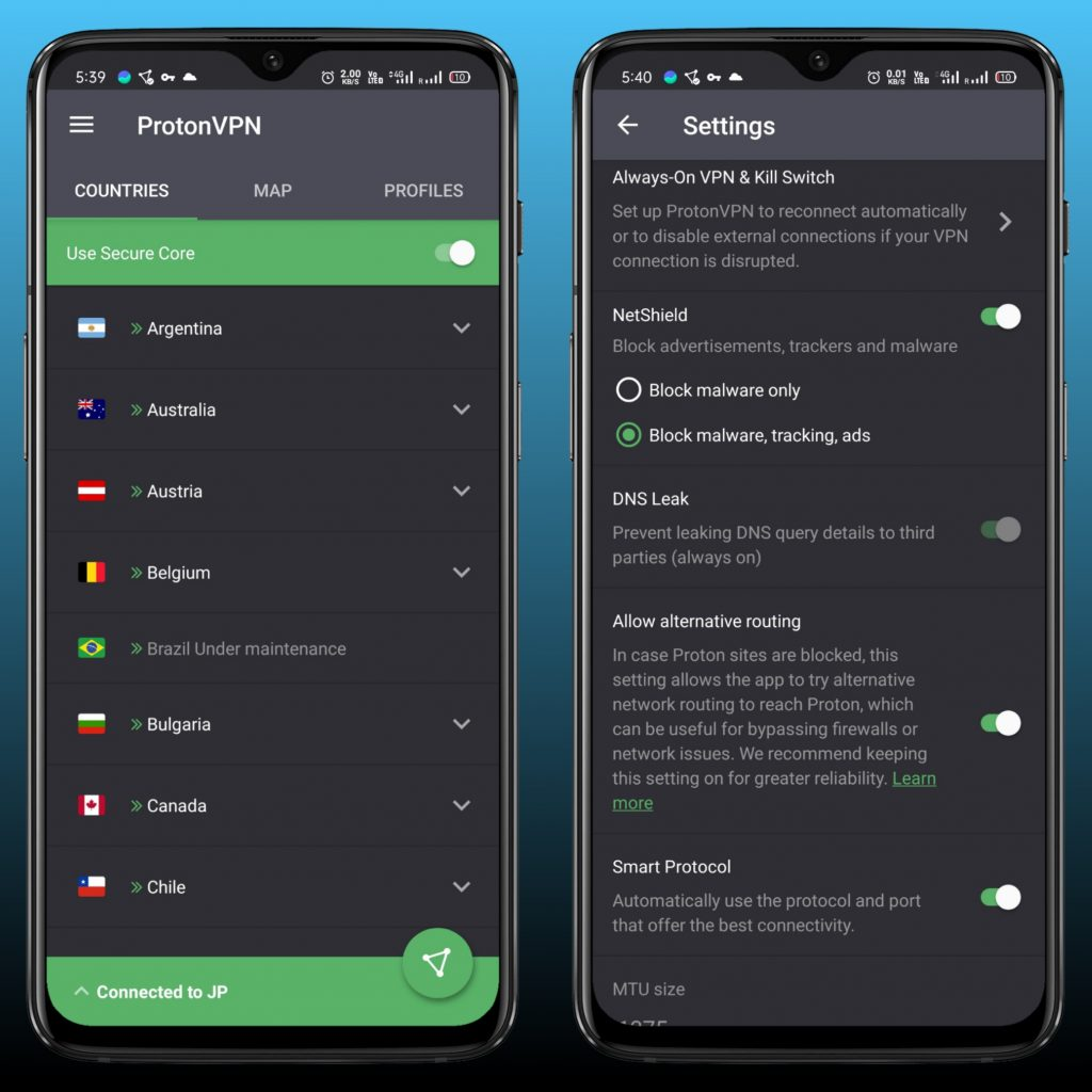 Proton VPN - Free Unlimited VPN for Android